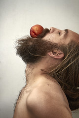 Day 239 (Michael Rozycki) Tags: portrait self canon mouth project hair beard personal 7d balance nectarine 1755