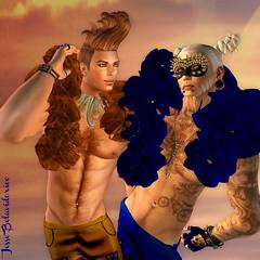 Jesse & Rik Divas (Jesse Belavidorico) Tags: blue gay sunset shirtless moon sexy ginger sl boa secondlife blonde fabulous