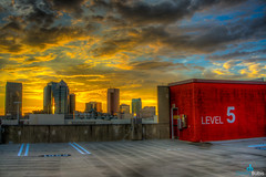 Sunset at Downtown Tampa Bay, FL (dbubis) Tags: city sunset skyline clouds tampa downtown florida fl hdr channelside bubis dbphoto