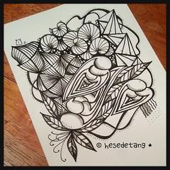 Diva Challenge Wk 15 - Mooka (hesedetang *) Tags: sketch tangle tangles hesedetang zentangle hesedetangdoodles hesedetangtangles