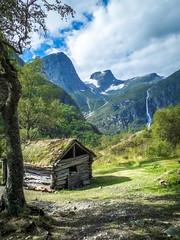 Briksdal waterfall (K r y s) Tags: topf25 norway sognogfjordane