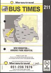 Merseytravel (Wirral) Timetable Route #211 (From 13th June 1994) (Luke O'Rourke) Tags: merseytravel merseybus liverpool wirral westkirby birkenhead birkenheadwoodside crosville timetable timetables newbrighton bromborough bus