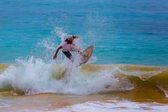 Skim boarder Makena Beach (chrisleboe) Tags: ocean hawaii wave maui splash skimboarder
