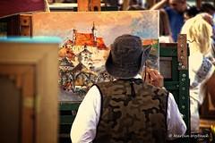 Market IV (Collect Time Not Things) Tags: life people man hat europa europe picture painter polen polonia ima easel ludzie kapelusz kazimierzdolny obrazy malarz sztaluga