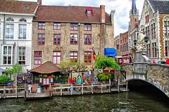 some colors of Bruges, Belgium August 2014 (Smo_Q) Tags: cloud belgium belgique brugge journey bruges brujas belgien belgio bélgica brügge belgia ベルギー brugia 比利时 벨기에 ブルッヘ pentaxk5 布吕赫 브뤼허 sintjannepomucenusbridge