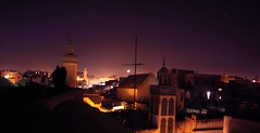 fez02 (F0ge) Tags: city roof panorama night dawn lights mosque morocco fez medina antenna riad