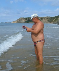 Arillas central beach - temperature check (pj's memories) Tags: briefs speedos tanthru kiniki