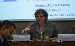 Kathy Greenlee, HHS Assistant Secretary for Aging at Panel on Elder Abuse (US Mission Geneva) Tags: health elderly discussion oldpeople humanrights aging abuse elderabuse humanrightscouncil