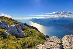 Monte Altissimo lago di Garda HDR (Alessandro Casagrande Photographer) Tags: panorama canon lago landscapes garda italia erba sassi acqua montagna hdr paesaggio altissimo