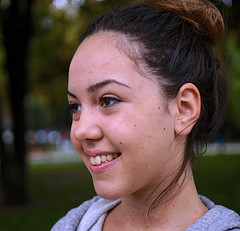Young Belgrade teen (mares816) Tags: girls beautiful zeiss portraits nice pretty young teens brunette schoolgirls sonynex planar3218touit