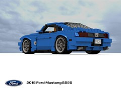 Ford 2015 Mustang S550 (lego911) Tags: auto usa ford sports car america model lego render company only motor mustang 83 challenge v8 cad sportscar lugnuts povray moc ldd 2015 miniland onlyinamerica s550 ecoboost lego911