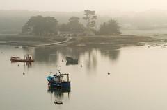 la trinité sur mer dans le brouillard (gillouvannes56) Tags: mer france boat bretagne bateaux plage britany latrinitésurmer landscapelightlumierebrouillardseacanon7dsunsoleil
