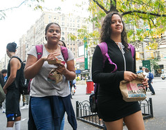 Fast Food Lunch (UrbanphotoZ) Tags: students lunch mcdonalds fastfood women biscuitsallday hooray backpacks sleepys fidelity upperwestside manhattan newyorkcity newyork nyc ny