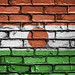 National Flag of Niger on a Brick Wall