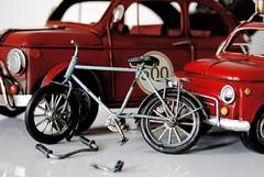 repair (3OPAHA) Tags: macromondays hmm red car bicycle sony