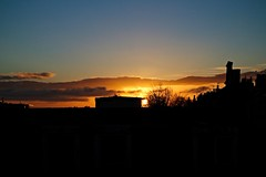 IMG_1251 (LezFoto) Tags: sunrise aberdeen scotland canon eosm rooftops sun morning silhouette aerials chimneys