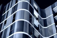 L'appartement (Pat Charles) Tags: apartment house home city architecture melbourne victoria australia swinburne hawthorn curves curve curvy curvaceous nikon monochrome lines window night nighttime longexposure metal metallic futuristic