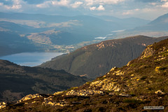 "View from the summit of Meall Fuar-mhonaidh-700 metres. (Scotland by NJC.) Tags: lochness scotland greatglen lakes lochs reservoirs waters meres tarns ponds pool lagoon lago 湖 jezero sø meer järvi lac see λίμνη 호수 innsjø jezioro озеро clouds haze billowing mist fog ""rain clouds"" obscure shadow سَحَابَة nuvem 云 oblak sky wolk nube pilvi nuage wolke σύννεφο nuvola 雲 chmura nor mountains hills highlands peaks fells massif pinnacle ben munro heights جَبَلٌ montanha 山 planina hora bjerg berg montaña vuori montagne βουνό montagna fjell"