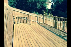 "A before and after photos of a decking job in Loughborough, making use of a un useful area • <a style=""font-size:0.8em;"" href=""http://www.flickr.com/photos/72072497@N07/14268057357/"" target=""_blank"">View on Flickr</a>"