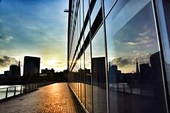 Sonnenuntergang an der Oberbaumbrücke