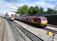 Maroon 67s (R~P~M) Tags: uk greatbritain england london train diesel unitedkingdom railway depot locomotive 67 wembley chilternrailways dbarriva