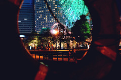 Minatomirai (kana hata) Tags: japan night photoshop sony illumination yokohama float kanagawa 2014 nex swimmingring