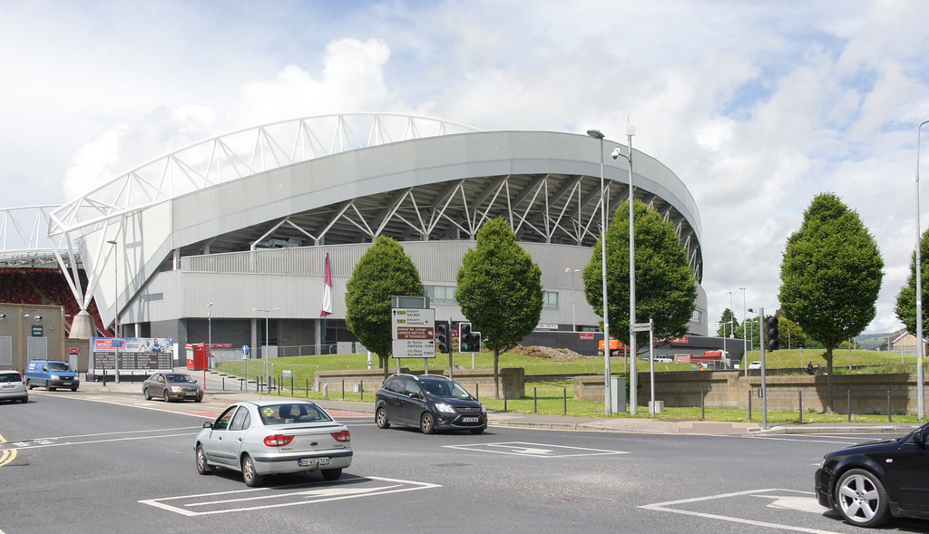 THOMOND PARK RUGBY STADIUM IN LIMERICK CITY