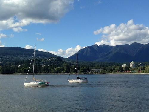 ocean mountains vancouver sailboat sailboats mountaintops