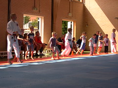 "zomerspelen 2013 karate clinic • <a style=""font-size:0.8em;"" href=""http://www.flickr.com/photos/125345099@N08/14427407163/"" target=""_blank"">View on Flickr</a>"