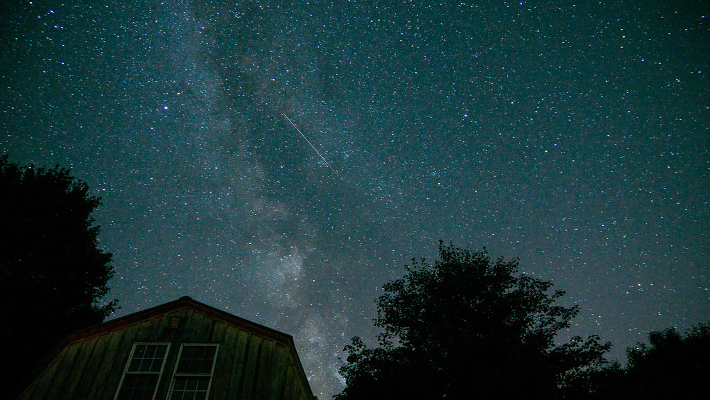 Milkyway over the cabin
