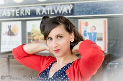 'NAOMI' - GCR - GREAT CENTRAL RAILWAY 1940'S WEEKEND 14th-15th JUNE 2014 (tonyfletcher) Tags: portrait model 1940s homefront worldwar2 40s greatcentralrailway reenactments ww11 gcr tonyfletcher greatcentralrailway1940s gcr40sweekend2014