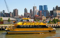 New York- Water taxi Ed Rogowsky (Thumpr455) Tags: newyorkcity urban water yellow skyline harbor boat nikon marine ship manhattan august hudsonriver watertaxi 2007 d80 edrogowsky afnikkor1855mmf3556gii