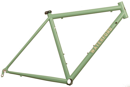 <p>Waterford 14-Series Road Sport in Rock Moss Green with Ivory Block Decals.  This simple, yet compelling color combination will attact looks with its understatement.</p>