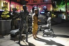 A Great Emporium (chooyutshing) Tags: bronze display sculptures singaporeriver statute asiancivilisationmuseum riverpromenade agreatemporium singaporerivermerchants rivernights2014