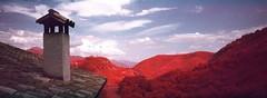 Casa rural Casa Itxalde, vistas desde nuestro balcn (santisss) Tags: bw color film kodak hasselblad infrared expired ektachrome e6 xpan 45mm eir filtro camprodon infrarrojo caducado infraroig 52e casaitxalde