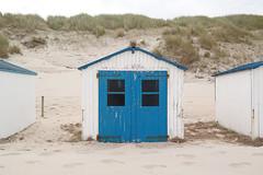 Beach huts / blue (Dennis de Witt) Tags: beach huts imagelogger