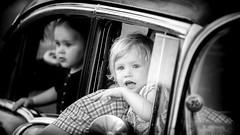 A ride in dads old car at Power Big Meet 2010 (Subdive) Tags: blackandwhite bw monochrome children child sweden streetphoto sverige crusing västerås powermeet powerbigmeet magicdrainpipe canoneos40d