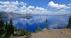 summer lake water oregon landscape nikon day clear cumulus craterlake craterlakenationalpark nikond610