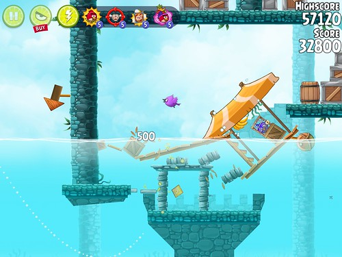 Angry Birds Rio Heads-Up Display: screenshots, UI