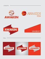 Awake Logo (oxygencube) Tags: red orange kids youth logo retreat branding awaken