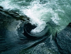 Water Swirl Re-Upload/Remaster (Brendan David Hughes) Tags: blue green water closeup photography aqua slow bubbles swirl