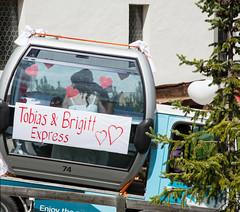 Wedding Car 74 (Vibrimage) Tags: wedding switzerland snapshot gondola streetphoto zermatt weddingcar 2014 alpinesummer