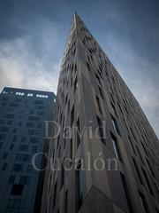 Blue Buildings (David Cucaln) Tags: barcelona city blue sky urban azul skyline architecture buildings arquitectura edificios ciudad olympus cielo 2014 e510 cucalon 1442mm davidcucalon