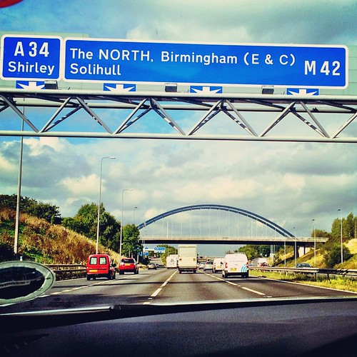 "On the way to ""The North"" - Somewhere outside Birmingham"