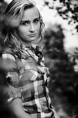 Lory (C.Syl20) Tags: portrait blackandwhite bw cute shirt noiretblanc blueeyes naturallight nb blond portraiture blonde belle shooting lory manualfocus chemise mignonne yeuxbleus d7000 nikkor5014ai csyl20