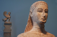 New York Kouros, detail of head