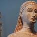 New York Kouros, detail of head
