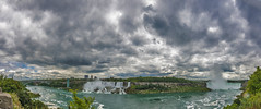 The Falling and Rising (sashdc) Tags: sky panorama cloud ontario canada clouds america dark skies stormy niagara falls epic stitched