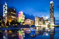Magic ball (mikemikecat) Tags: street reflection mirror sony voigtlander nightview ifc crystalball glassball a7r vm21 tamarpark 添馬公園