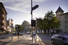 Nature et constructions  Sion (Nicolas Christe) Tags: schweiz switzerland construction suisse pierre campagne vignes wallis vigne ville murs voitures valais feux urbanisme fddm